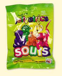 Jellyatric sours, sour jelly babies