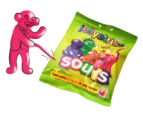 sour jelly babies